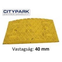Fekvőrendőr 4 cm-es sárga köztes elem