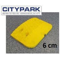 Fekvőrendőr 6 cm-es sárga végelem