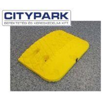 Fekvőrendőr 4 cm-es sárga végelem