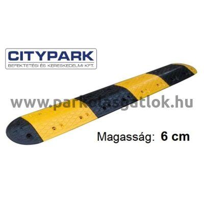 Fekvőrendőr 6 cm magas