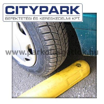 Túlfutásgátló sárga (Parkolási ütköző elem)