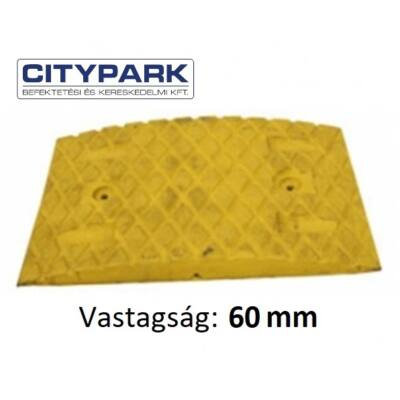 Fekvőrendőr 6 cm-es sárga köztes elem