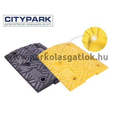 Fekvőrendőr 5 cm magas sárga köztes elem
